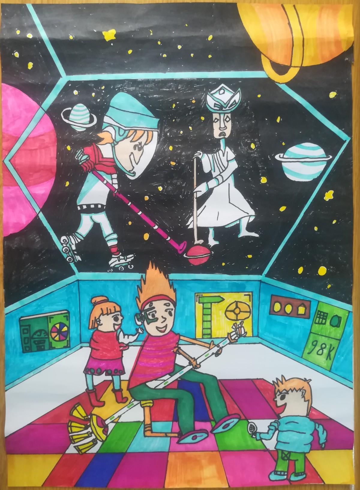 138  许田子  《未来的太空生活》.jpg