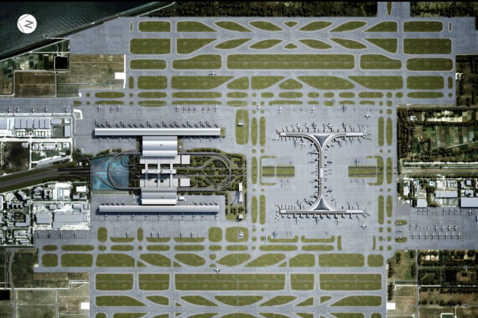 上海浦东机场卫星厅总平面图.png