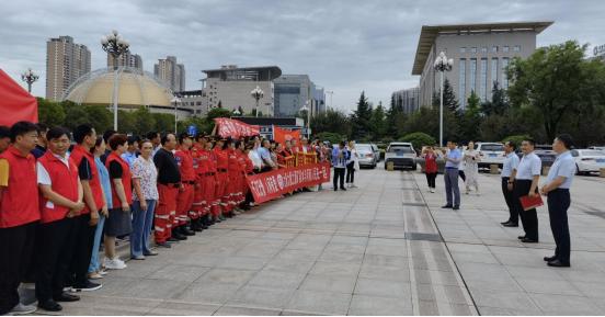 寶雞市舉辦社會組織支援河南搶險救災捐贈儀式
