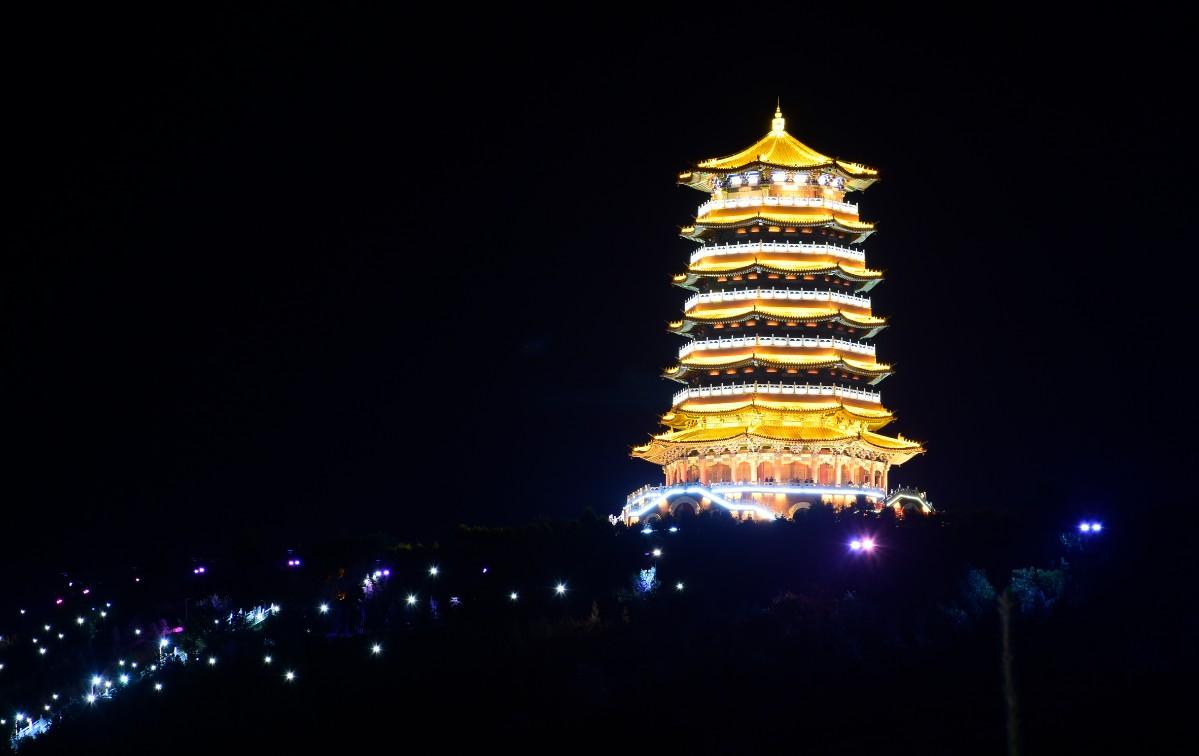 古塔亮化夜景照明