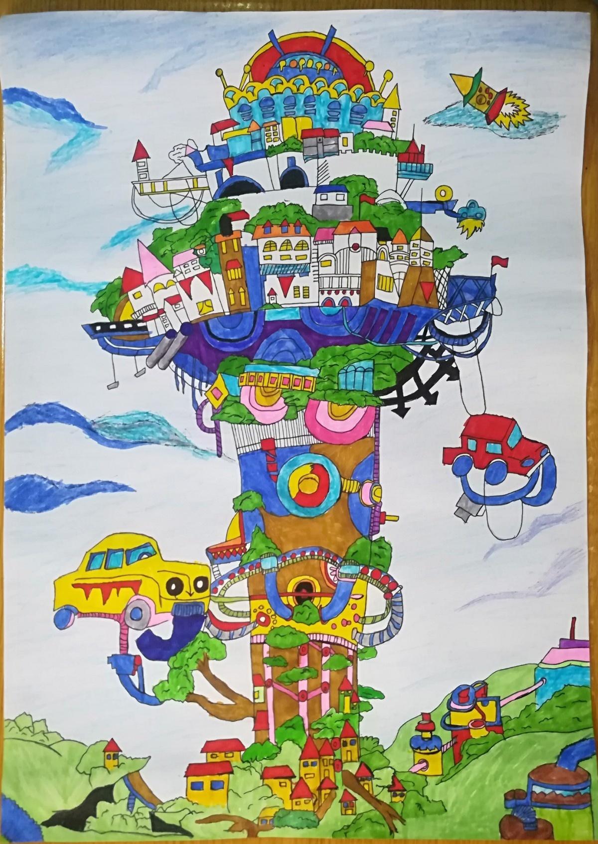 0一等奖   3  豪明伟  《未来的城堡》.jpg